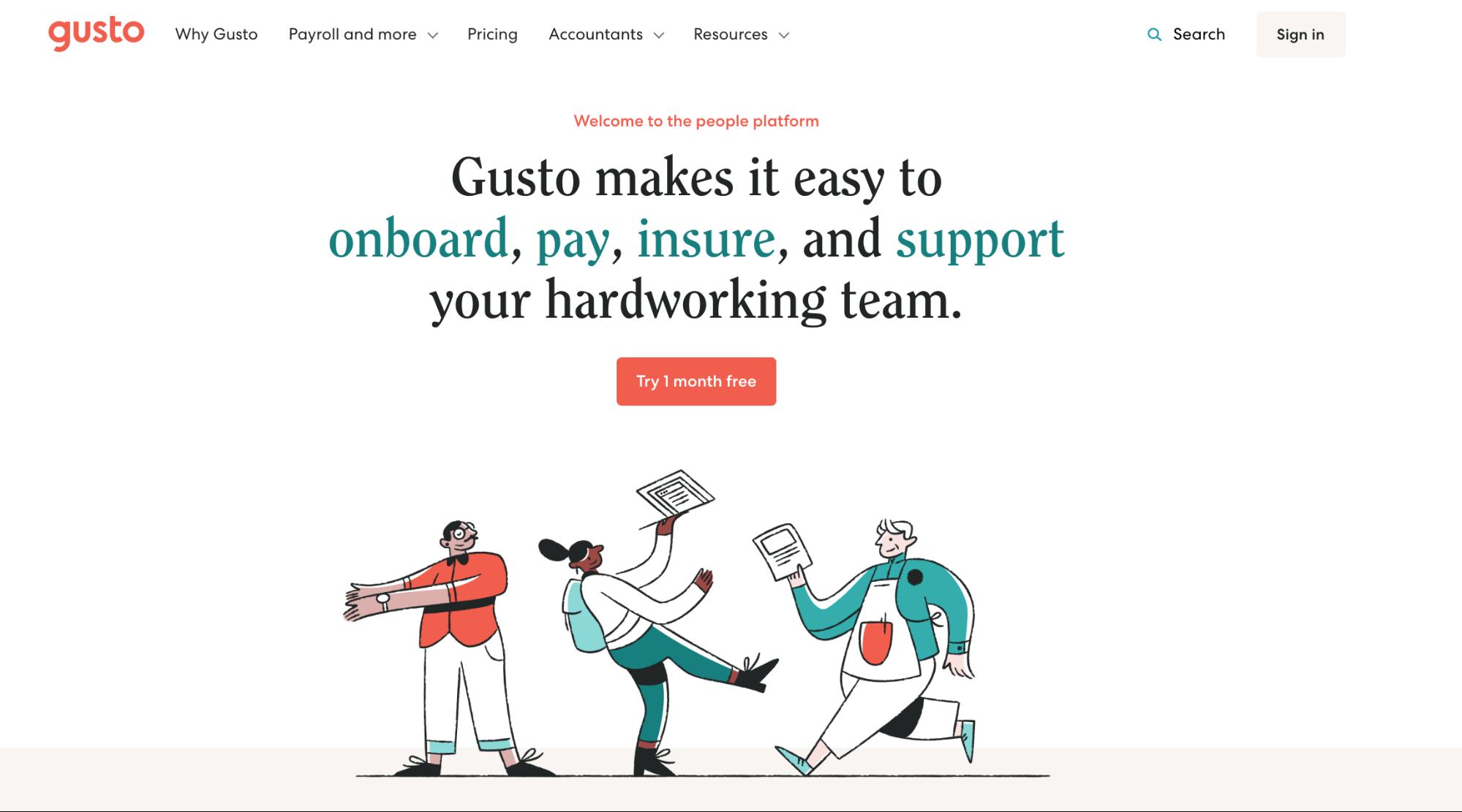 Gusto website