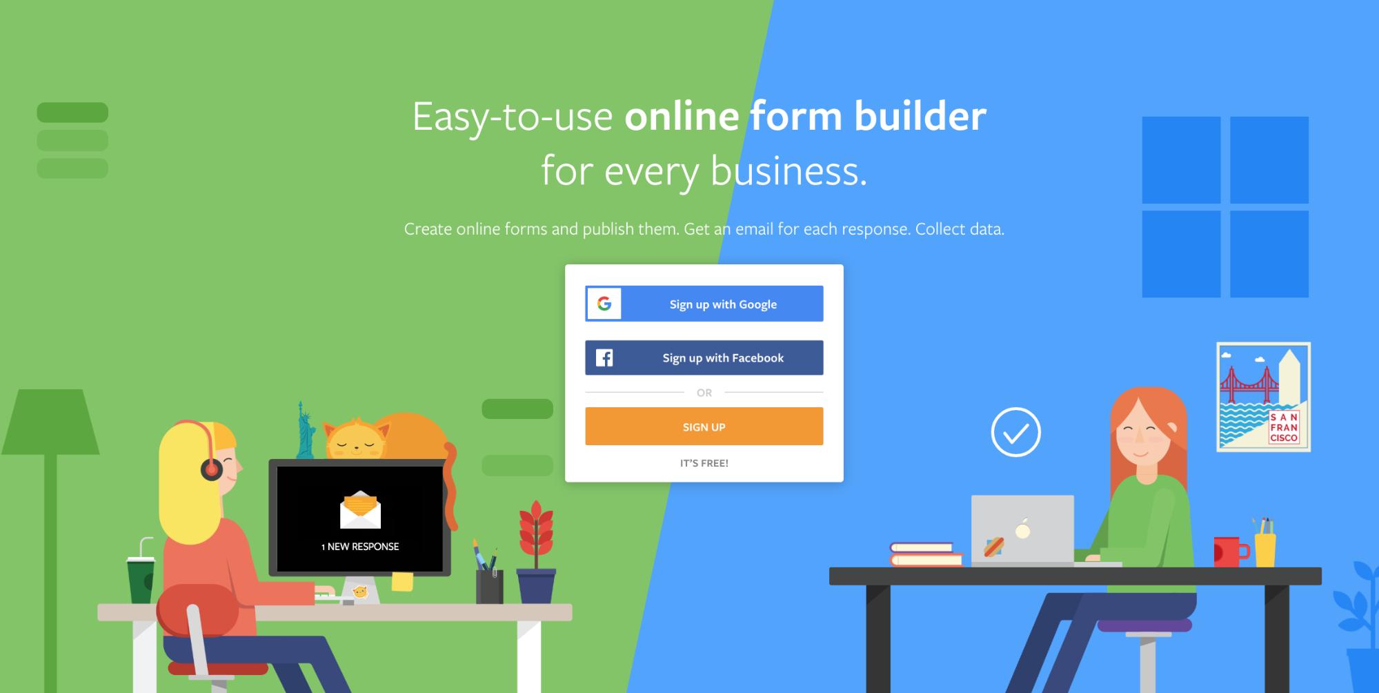 JotForm website