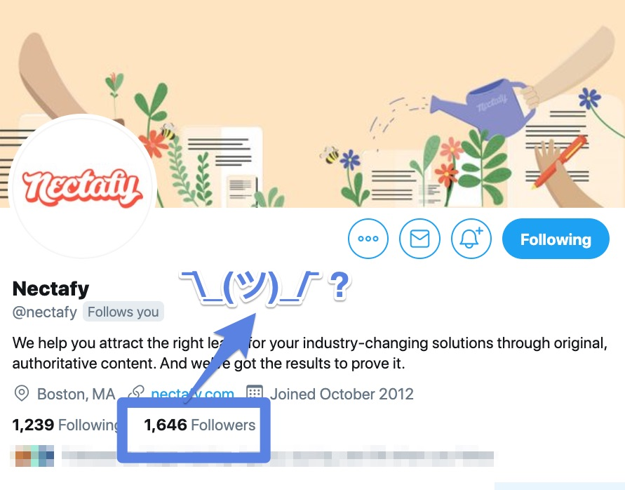 Nectafy's Twitter page