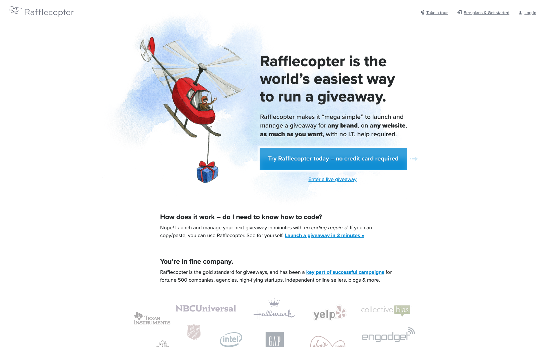 Rafflecopter website