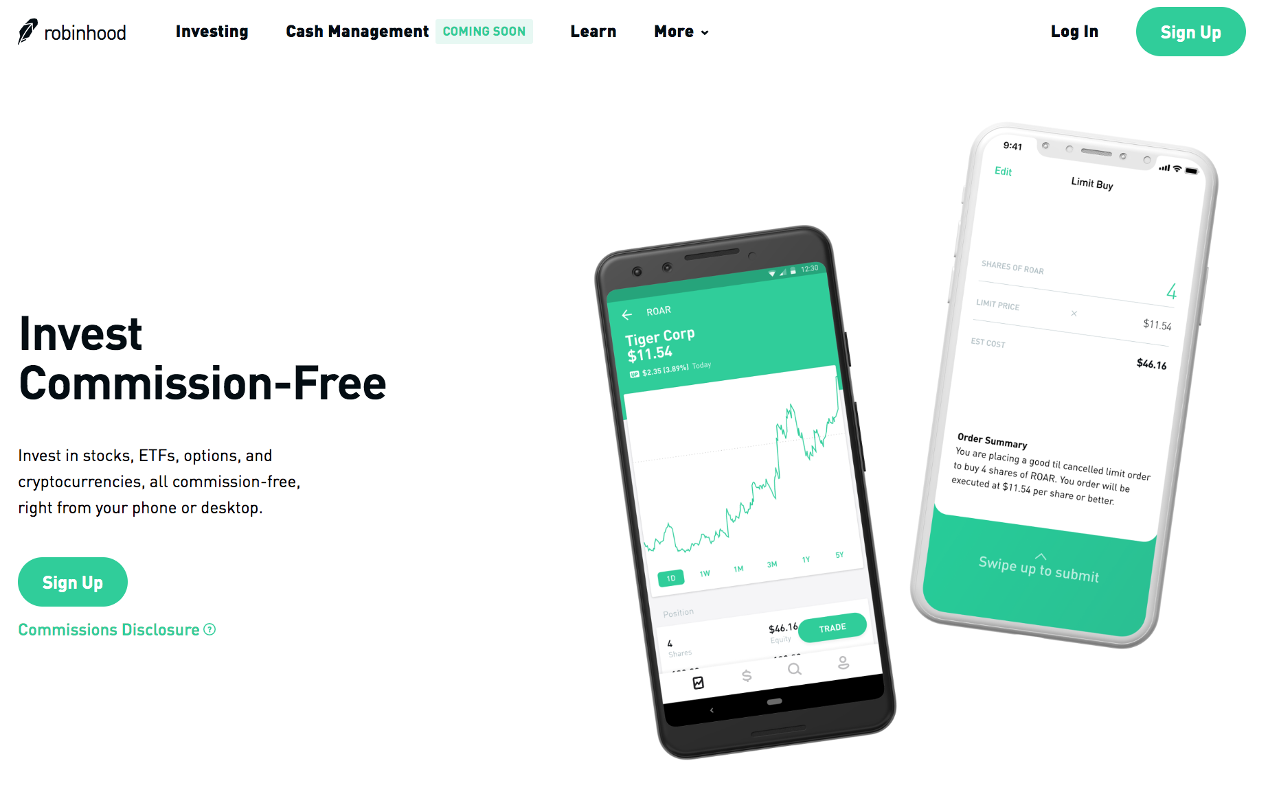 Robinhood website