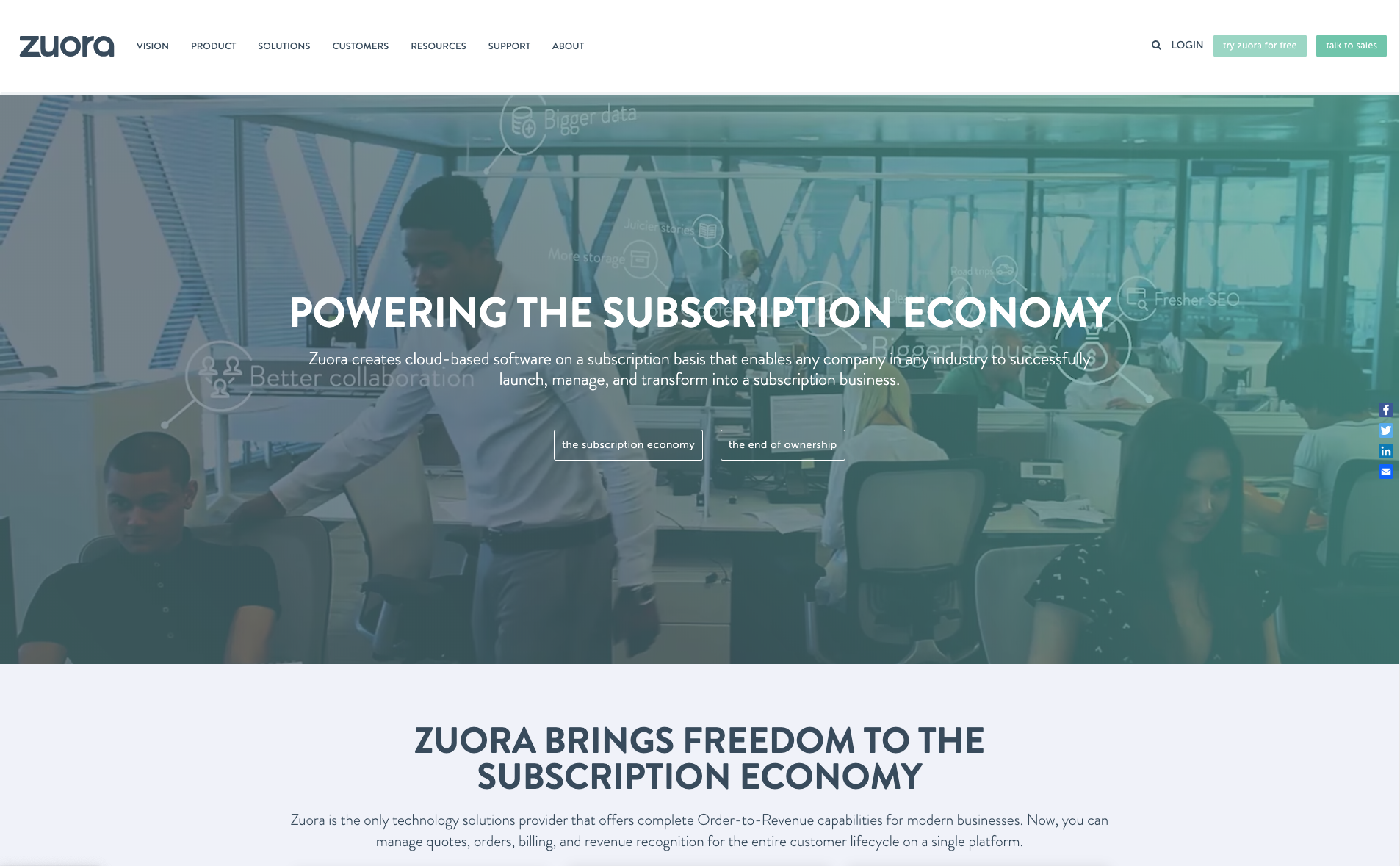 Zuora website