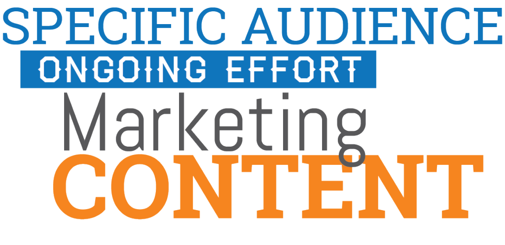What is content marketing? - SPECIFIC AUDIENCE ONGOING EFFORT MARKETING CONTENT