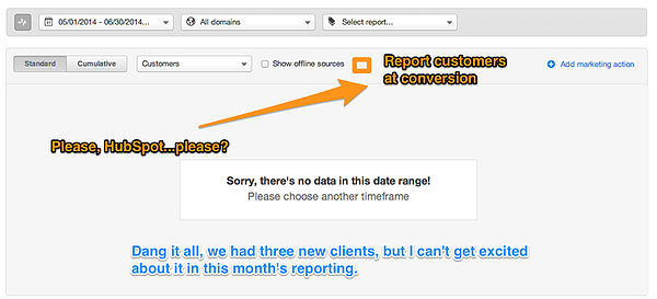 Crappy Customer Reporting - HubSpot