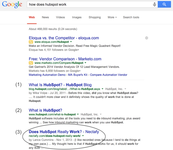 Hubspot search results