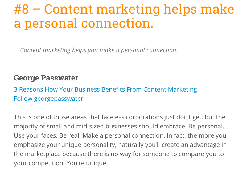 59 Benefits Of Content Marketing From 50 Expert Marketers - Social list articles
