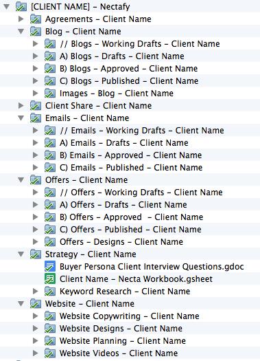 inbound-marketing tools-drive-folder-template