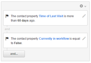"""Contact properties """"Time of Last Visit"""" and """"Currently in workflow"""""""