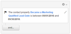 "Contact property ""Became a Marketing Qualified Lead Date"""