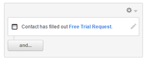 Contact has filled out free trial request