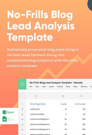 Download: No-Frills Blog Lead Analysis Template