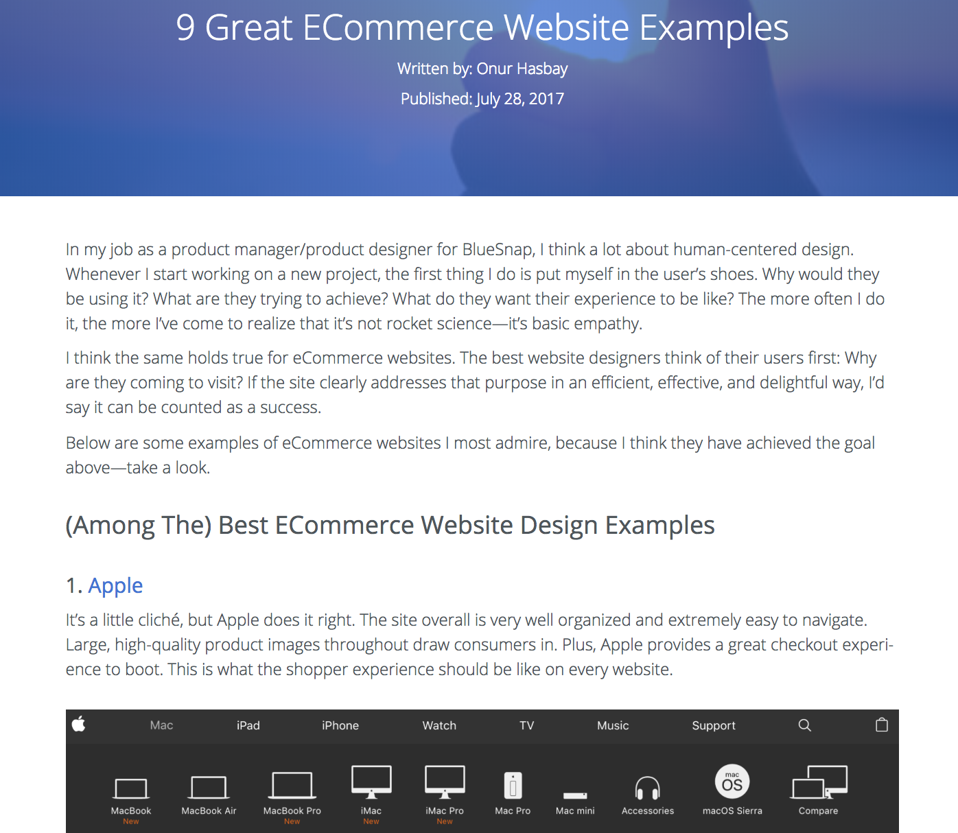 9 Great ECommerce Website Examples - BlueSnap's phrase matching article