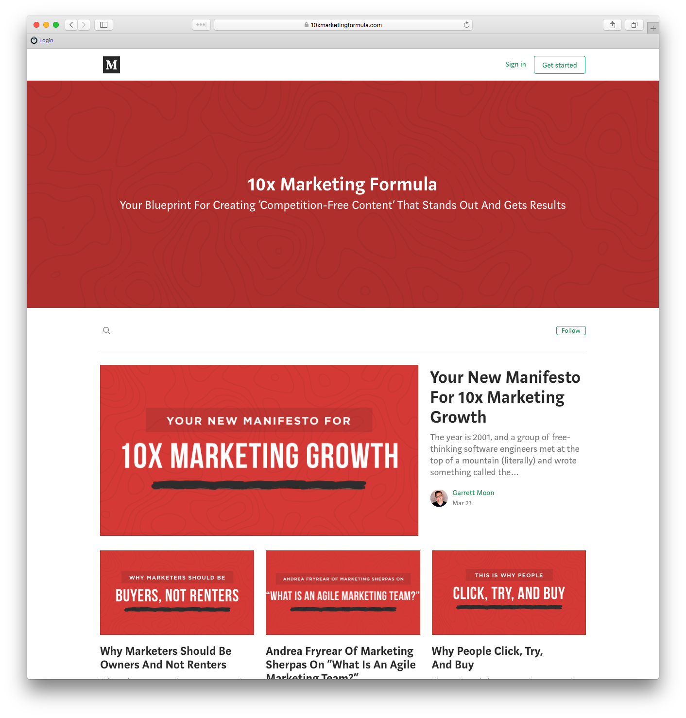 Garrett Moon and the 10x Marketing Formula