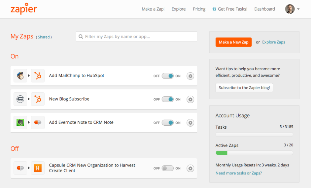 HubSpot - Zapier - WordPress - Gravity Forms